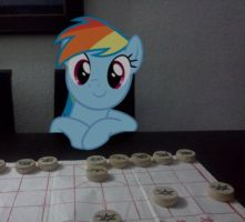 Rainbow Dash and me play Xiangqi by laopokia
