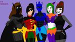 the Bat-Gals by LordVaderNihilus