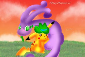 Oregon Trail Pikachu Edtion by BlueySerperior