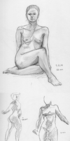 Figure drawings I by Ornithogale