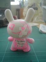 'Aishiteru' Dunny backview by fallen-4rch4ng3l