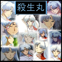 Inuyasha-Sesshoumaru Collage by Strawberry-of-Love
