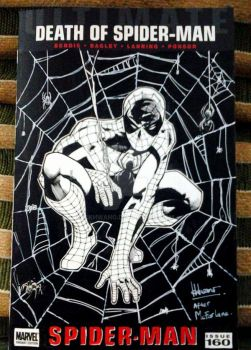 Death of Spider-man sketch cover by ickhwano
