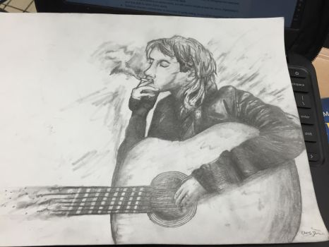 Kurt Cobain -on paper- by PezMiNT