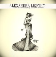 ALEXANDRA LIGETHY - PEARL GOWN by AlexandraVeda