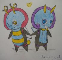 Volbeat and Illumise by fishbowlspace