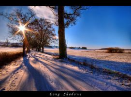 Long shadows in winter by JoInnovate