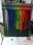 Crayon melting on black canvas by XGIFTSnCURSESX