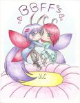 Butterfly BFFs Blood and Aki by HirokoTheHedgehog