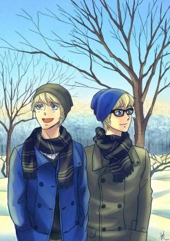Commission - Scamander twins by Heldrad