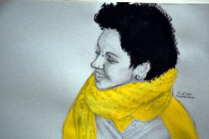 the Yellow Sweatshirt girl II by plumcake-mery