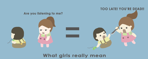 What girls really mean by Poopinesses