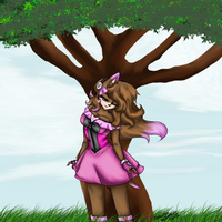Raine under a tree request by JustinRelinaleInc