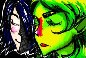 Lithe and Sukiko by Projectile-Vomiting