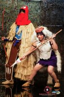San and Ashitaka from Princess Mononoke by Reneks