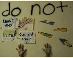 i hate thanks in my page by nininunino