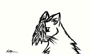 A Cat paint from me by Snowstorm-wolf