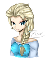 Elsa Try by Izu-tan