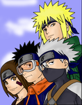 Team Minato - Coloured Lineart by Phoenix-Empress