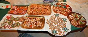 Christmas Gingerbread cookies by Diotima96