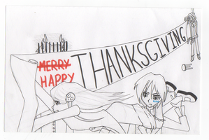 A Very Lenore Thanksgiving Card by Blue-Vampire-Queen