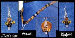 Necklace and Earring Set - Tiger's Eye Details by Eluinn
