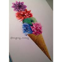 Ice cream cone by maymay-mcmay