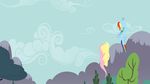 Ponies Flying Minimal Lock Screen by CeruleanDraw