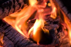 Blazing Firewood 13875625 by StockProject1