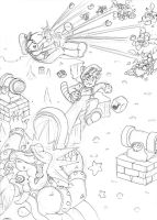 Gaming - Super Mario Bros by kamon-san