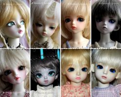 My BJD Babies - April 2015 by Kelaria-Daye
