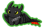 Toothless Keychain Design by alybel
