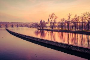 Dawn over Vltava by siddhartha19
