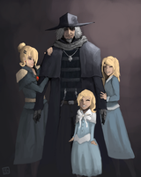 Bloodborne - Gascoigne family by chuylol14