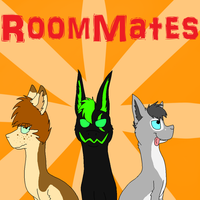 RoomMates Comic Cover by NeonMonsterBytes