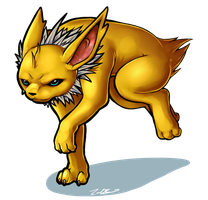 Jolteon commission by Electrical-Socket