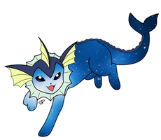 Vaporeon by Waterlines