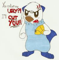 Request- Angry Oshawott by dark-stitch