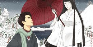 EXO YnS - Kyungsoo and Yuki Onna by AdamaSto