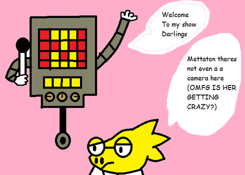 Mettaton and Alphys by papyrus-greatest