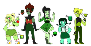 Green Gem Adopts [1/5 OPEN] by Copiani