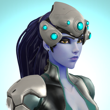 [SFM] Widowmaker icon (Winter Outfit) by red4567-2