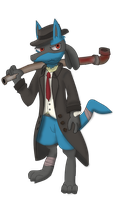 [Lucario] The Hardiest of Them All (Colored) by HRmatthew