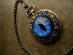 Sovereign Deluxe Pocket Watch - Sky Blue Water by LadyPirotessa