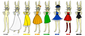Veronica and all dresses by Chradi