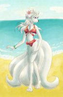 Krin on the Beach by Memokkeen