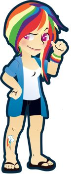 human Rainbow Dash by germanyA