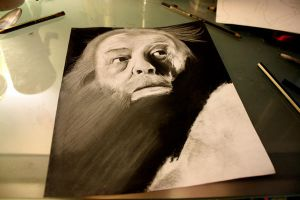 Harry Potter Project: Dumbledore WIP 2 by artbyjoewinkler