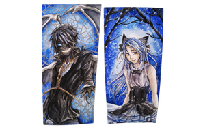 Double-sided Bookmark Commission by Capukat