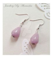 Quartzite Earrings - Lavender by WhiteMagicPriestess